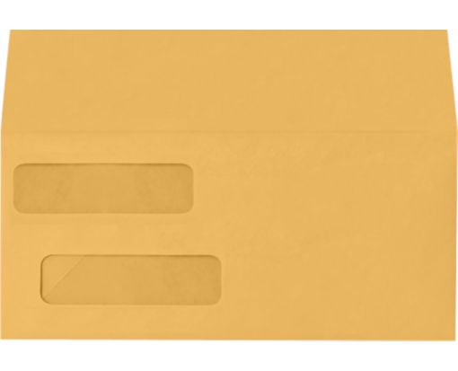 Double Window Invoice Envelopes (4 1/8 x 9 1/8) 28lb. Brown Kraft