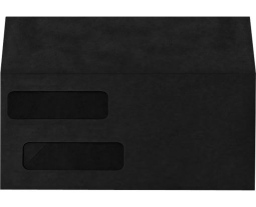 Double Window Invoice Envelopes (4 1/8 x 9 1/8) Midnight Black