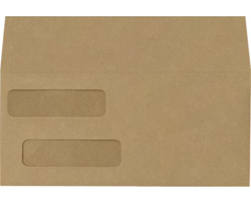 Double Window Invoice Envelopes (4 1/8 x 9 1/8) Grocery Bag