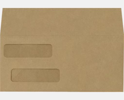 Double window invoice envelopes mandarin orange 4 1 8 for Double window envelope template