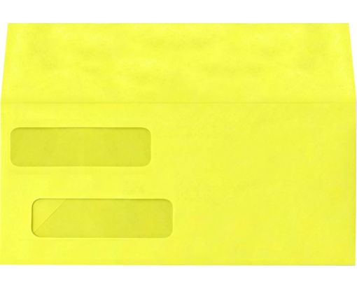 Double Window Invoice Envelopes (4 1/8 x 9 1/8) Citrus