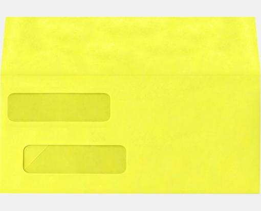Double Window Invoice Envelopes Citrus Yellow X - 9 invoice envelopes