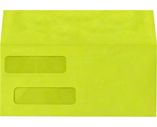 Double Window Invoice Envelopes (4 1/8 x 9 1/8) Wasabi