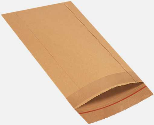 8 1/2 x 13 Jiffy Rigi Bag Mailers Brown Kraft