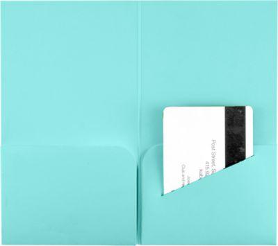 Hotel Key Card Holders (3 3/8 x 6) Seafoam