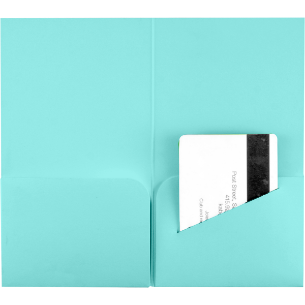 Hotel Key Card Holders (3 3/8 x 6) Seafoam