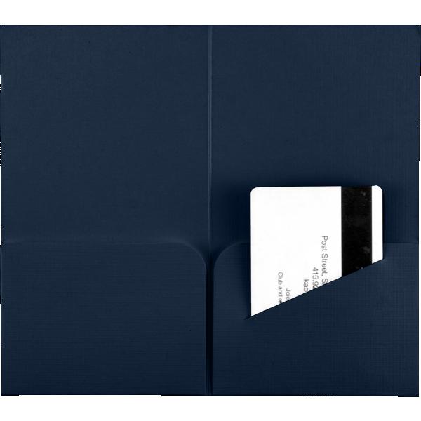 Hotel Key Card Holders (3 3/8 x 6) Nautical Blue Linen