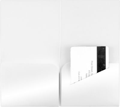 Hotel Key Card Holders (3 3/8 x 6) Bright White Gloss
