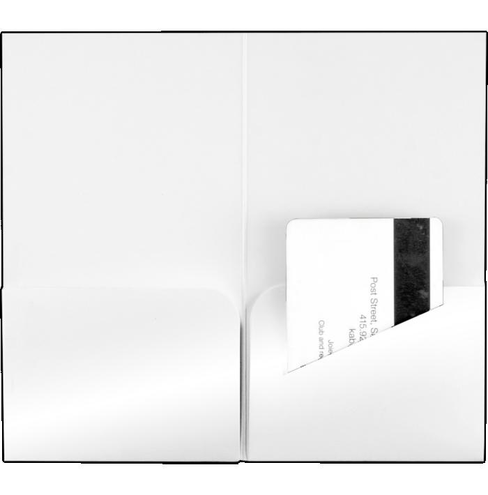 Hotel Key Card Holders (3 3/8 x 6) Bright White Gloss