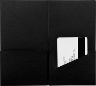 Hotel Key Card Holders (3 3/8 x 6) Black Linen