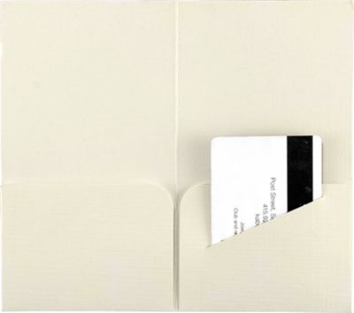 Hotel Key Card Holders (3 3/8 x 6) Natural Linen
