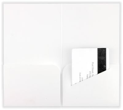 Hotel Key Card Holders (3 3/8 x 6) 100lb. White