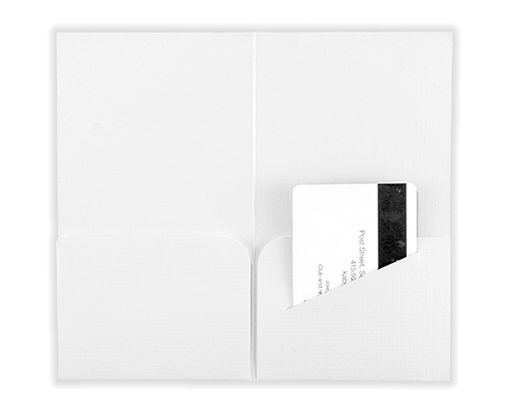 Hotel Key Card Holders (3 3/8 x 6) White Linen