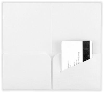Hotel Key Card Holders (3 3/8 x 6) White Linen