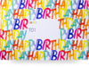 Large Mailing Boxes Rainbow Birthday