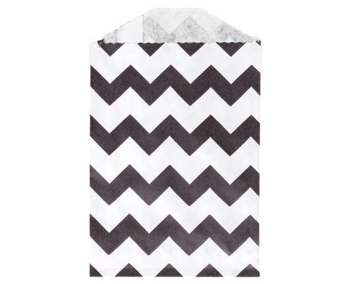Little Bitty Bag (2 3/4 x 4) - Black Chevron Black Chevron