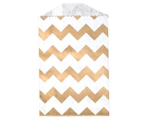 Little Bitty Bag (2 3/4 x 4) - Gold Chevron Gold Chevron