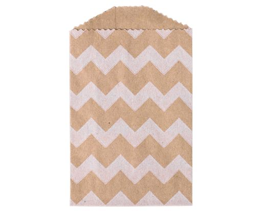 Little Bitty Bag (2 3/4 x 4) - White Chevron White Chevron