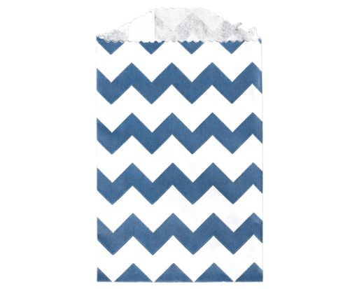 Little Bitty Bag (2 3/4 x 4) - Navy Chevron Navy Chevron
