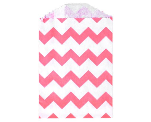 Little Bitty Bag (2 3/4 x 4) - Pink Chevron Pink Chevron
