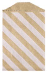 Diagonal Stripe Grocery Bag