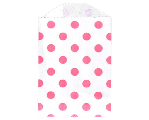 Little Bitty Bag (2 3/4 x 4) - Pink Polka Dot Pink Polka Dot