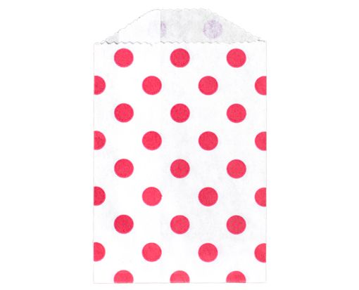 Little Bitty Bag (2 3/4 x 4) - Red Polka Dot Red Polka Dot