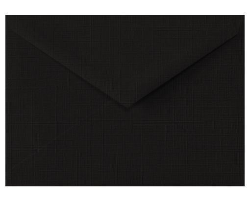 Lee BAR Envelopes (5 1/4 x 7 1/4) Black Linen
