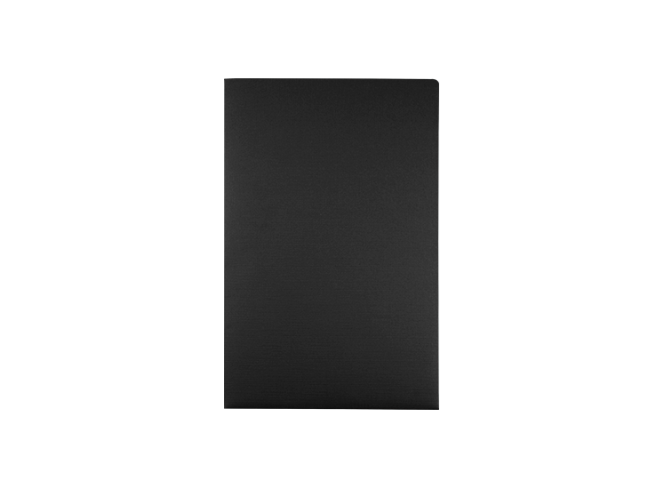 9 1/2 x 14 1/2 Presentation Folders Black Linen