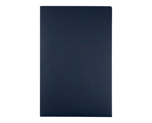 9 1/2 x 14 1/2 Presentation Folders Dark Blue Linen