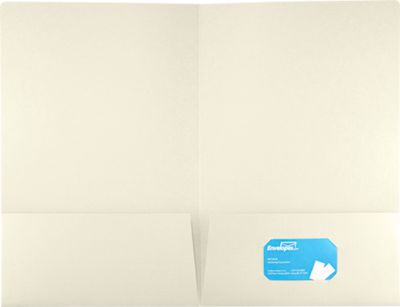 9 1/2 x 14 1/2 Legal Presentation Folders Natural Linen