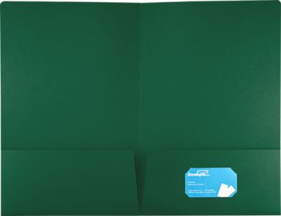 9 1/2 x 14 1/2 Legal Presentation Folders Green Linen