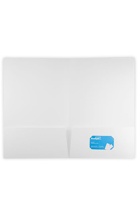 9 1/2 x 14 1/2 Legal Presentation Folders White Linen