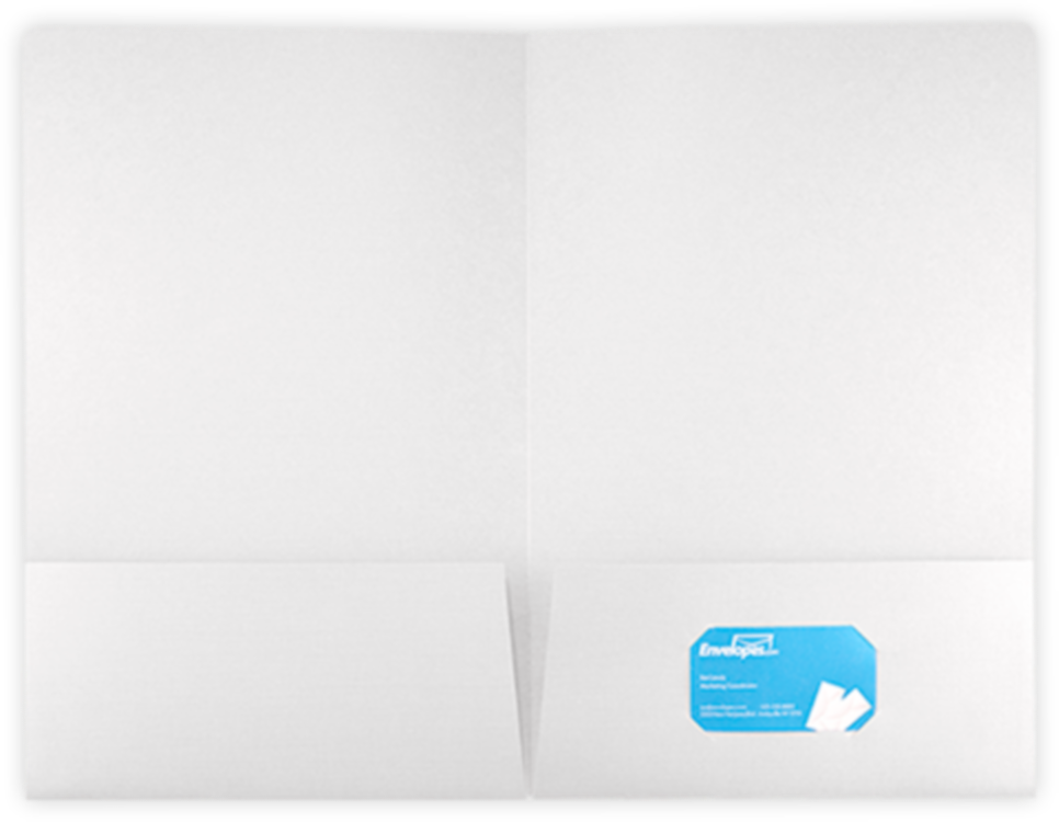 9 1/2 x 14 1/2 Legal Presentation Folders 100lb. White