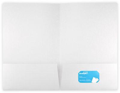 9 1/2 x 14 1/2 Legal Presentation Folders 100lb. White