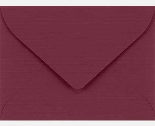 #17 Mini Envelopes (2 11/16 x 3 11/16) Burgundy Linen
