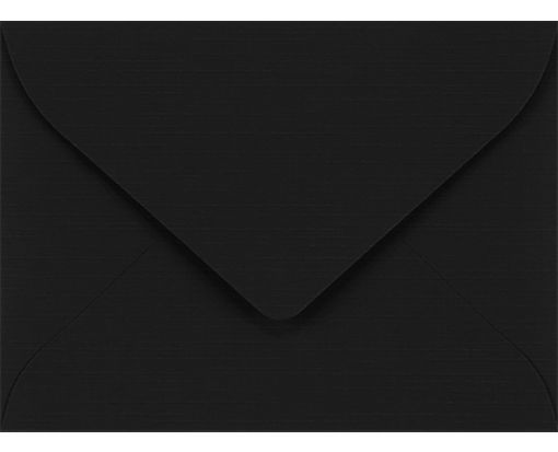 #17 Mini Envelopes (2 11/16 x 3 11/16) Black Linen