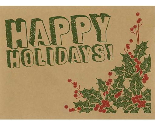 #17 Mini Envelopes (2 11/16 x 3 11/16) Happy Holidays! Drawing