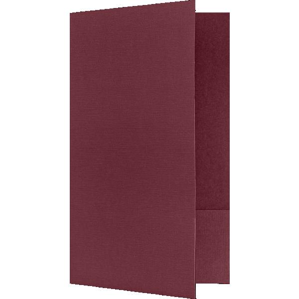 Legal Size Folders - Standard Two Pockets Burgundy Linen