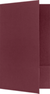 9 x 14 1/2 Legal Size Folders Burgundy Linen