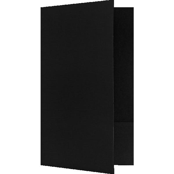 Legal Size Folders - Standard Two Pockets Deep Black Linen