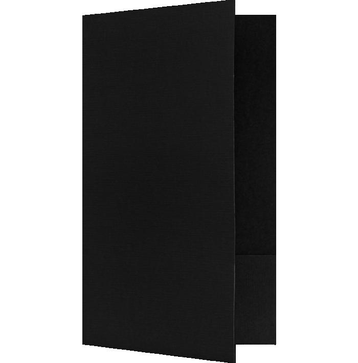 9 x 14 1/2 Legal Size Folders Black Linen