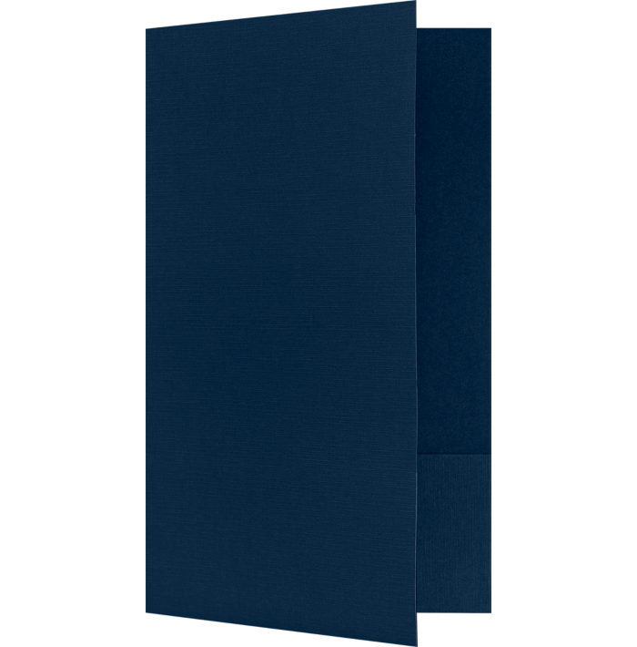 9 x 14 1/2 Legal Size Folders Nautical Blue Linen
