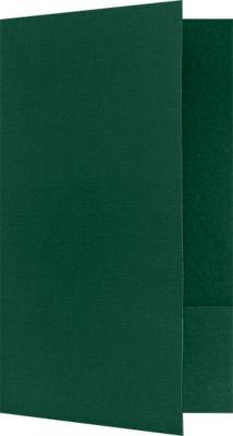 Legal Size Folders - Standard Two Pockets Green Linen