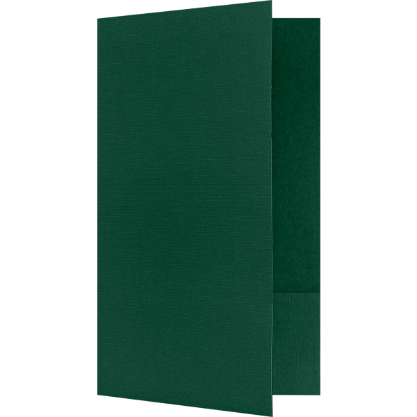 9 x 14 1/2 Legal Size Folders Green Linen