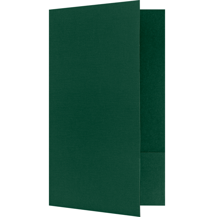 9 x 14 1/2 Legal Size Folders Green Linen