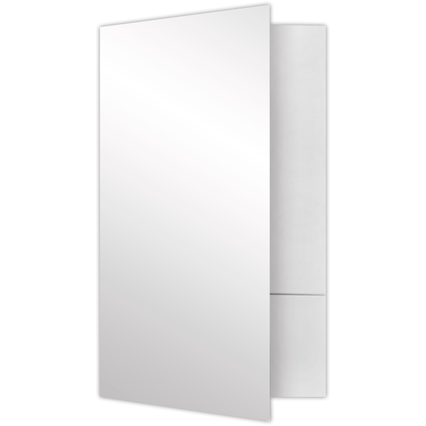Legal Size Folders - Standard Two Pockets White Gloss