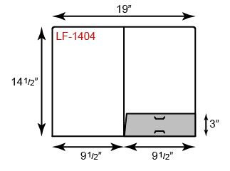 Legal Size Folders - One Short Pocket & Rounded Corner