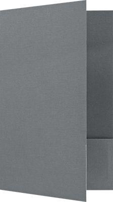 9 x 14 1/2 Legal Size Folders Sterling Gray Linen