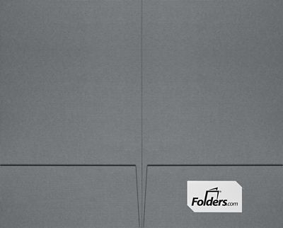 9 x 14 1/2 Legal Size Folders - Standard Two Pockets Sterling Gray Linen